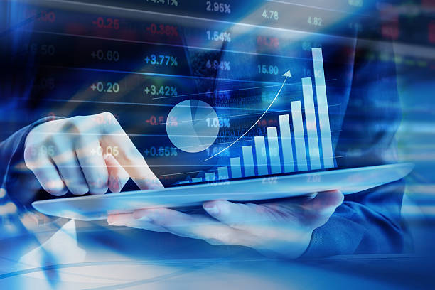 geschäftsfrau check-stock markt - börsenhandel finanzberuf stock-fotos und bilder
