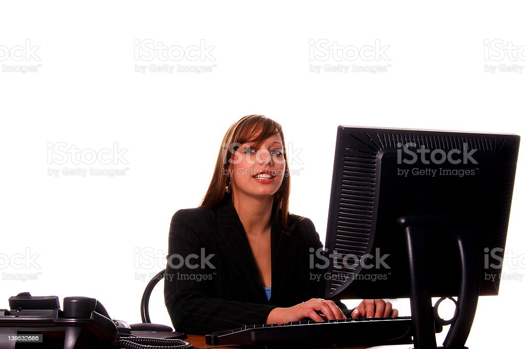 Business Woman At Her Desk royalty-free stock photo