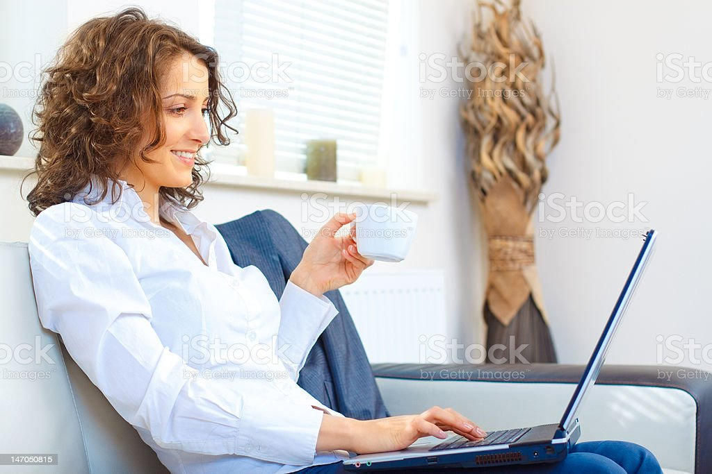 Business Woman at home royalty-free stock photo
