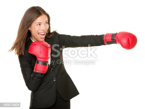 497607484 istock photo business woman boxing 153574826