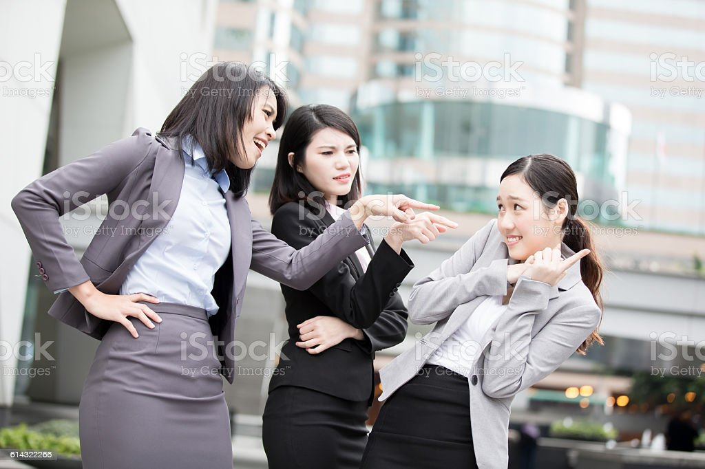 business woman bullying stock photo