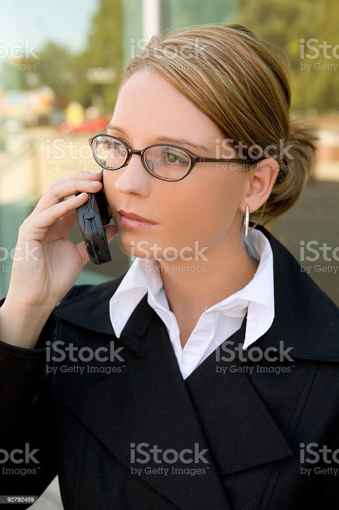 Business Woman / Cell Phone 2 royalty-free stock photo