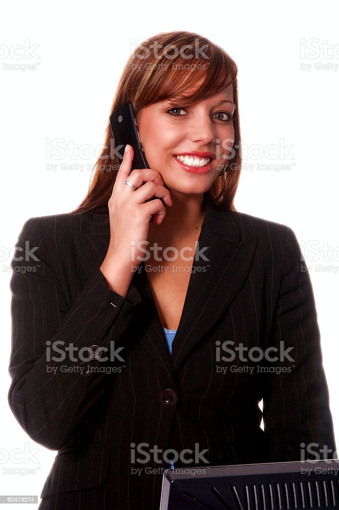 Business Woman Cell Phone royalty-free stock photo
