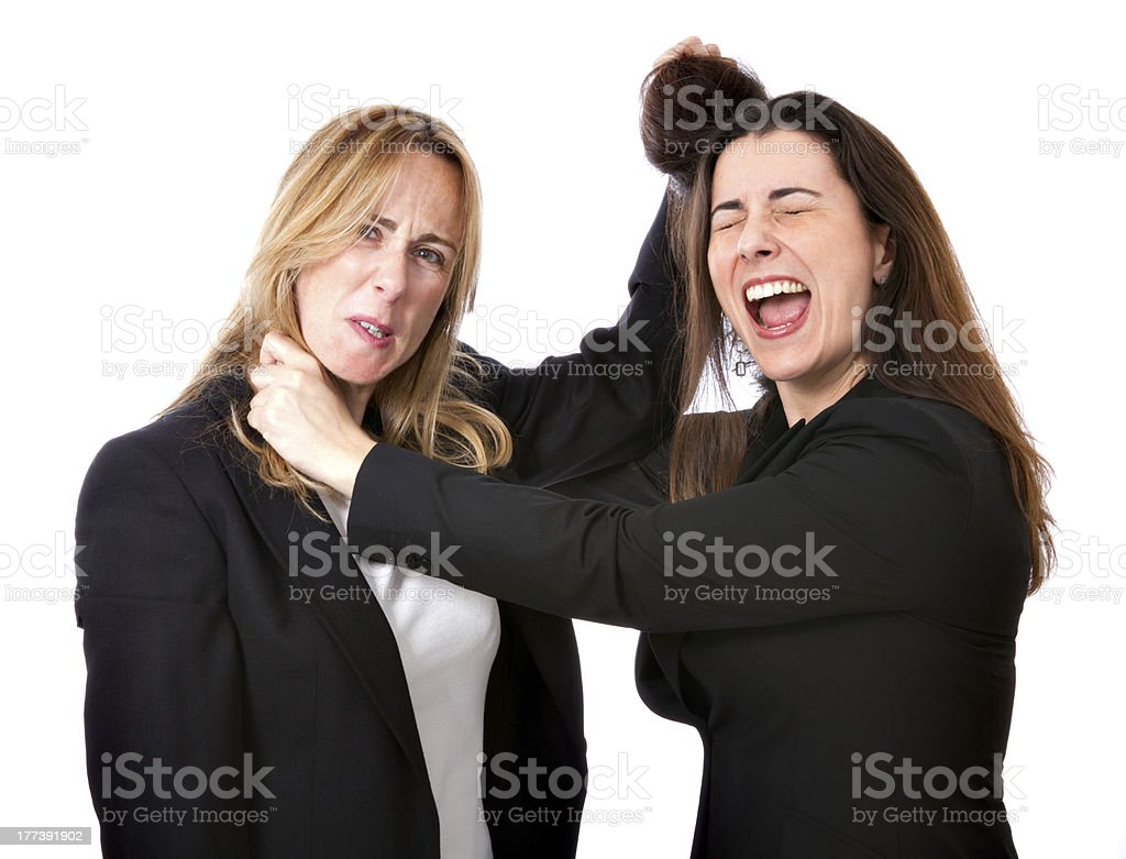 business woman competition conflict royalty-free stock photo