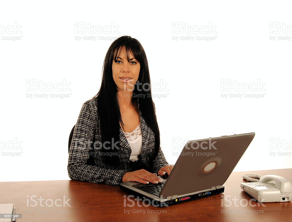 Business Woman COmputer royalty-free stock photo