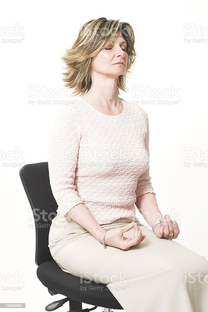 business woman doing relaxation stock photo