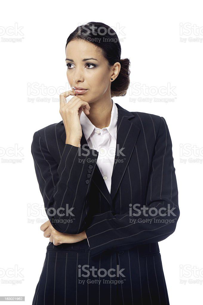 Business woman doubting royalty-free stock photo