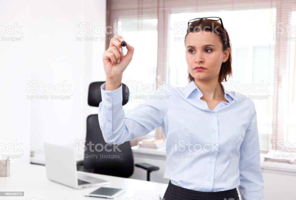 Business woman drawing royalty-free stock photo