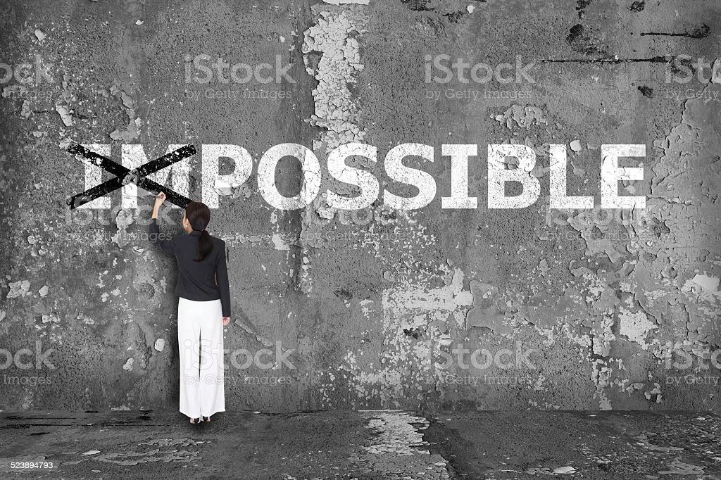 business Frau Zeichnung möglich an der Wand – Foto