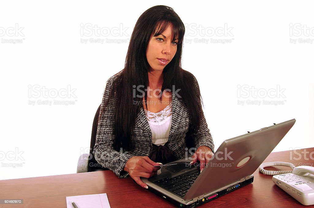 Business Woman Ecommerce royalty-free stock photo