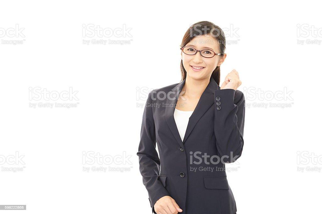 Mulher desfrutando de negócios de sucesso foto royalty-free