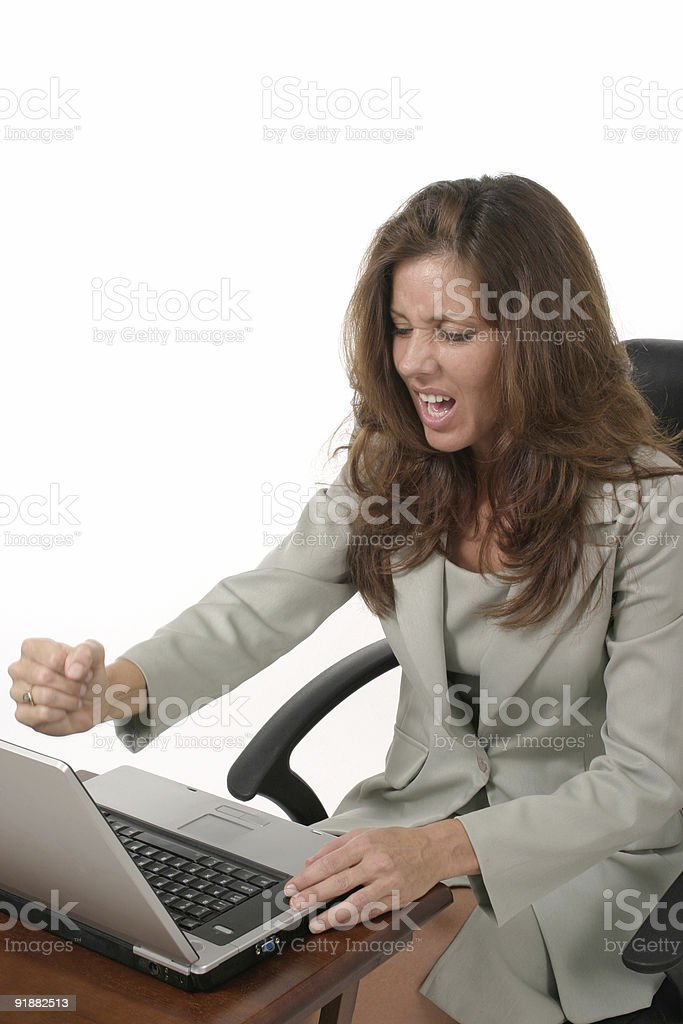 Business Woman Frustrated royalty-free stock photo