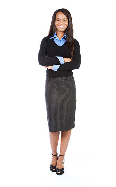 Business woman full body. stock photo