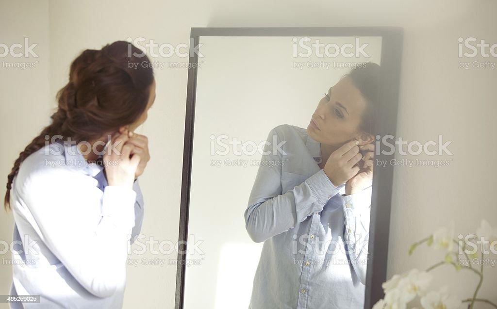 Negócios mulher preparando-se para escritório - foto de acervo