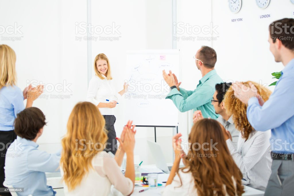Business Woman Giving Presentation at work. royalty-free stock photo