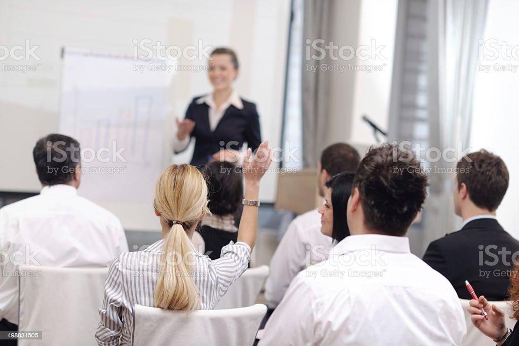 Geschäftsfrau, die Präsentation – Foto