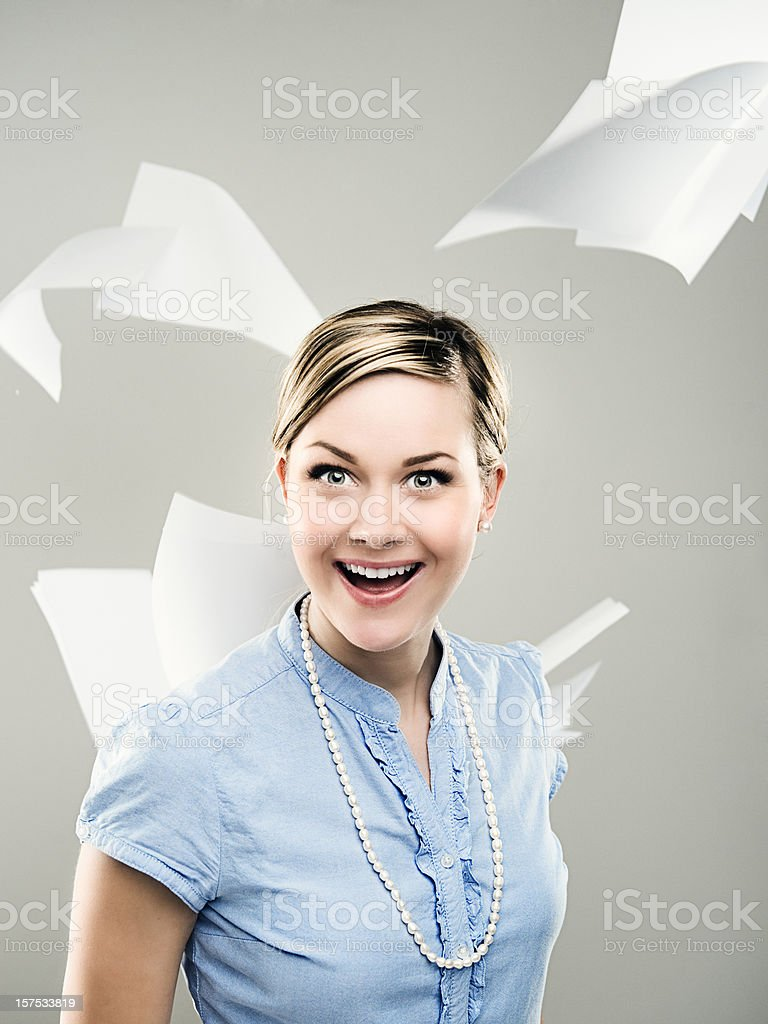 Business woman -  Happiness royalty-free stock photo