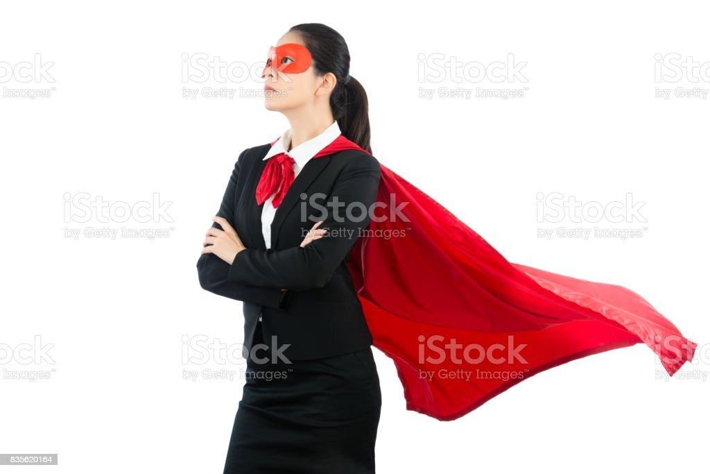 business woman have large ambition stock photo