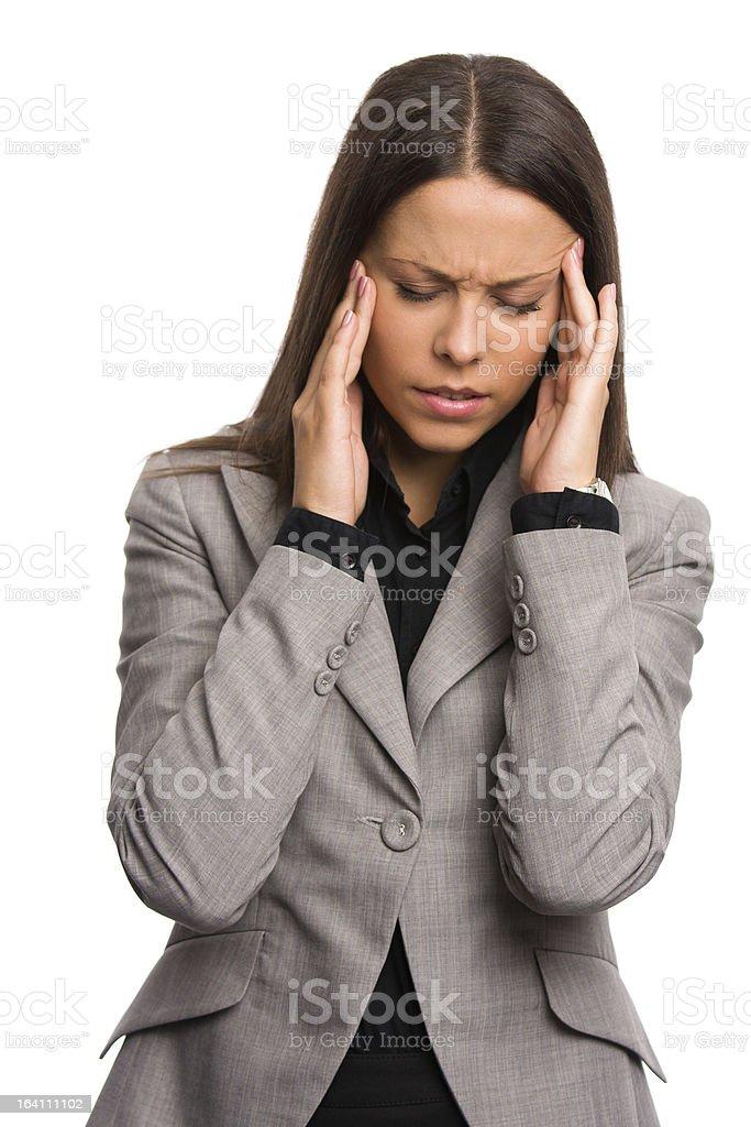 Business woman having a headache royalty-free stock photo