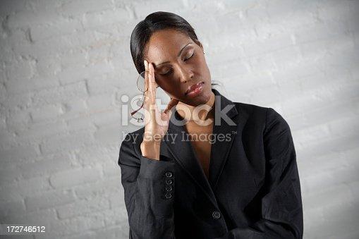 istock Business Woman Headache 172746512