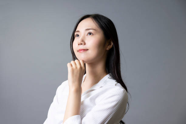 Business woman in a white shirt stock photo