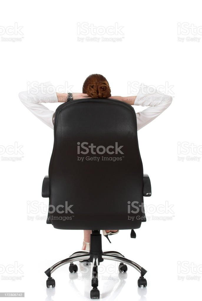 Business woman in chair royalty-free stock photo