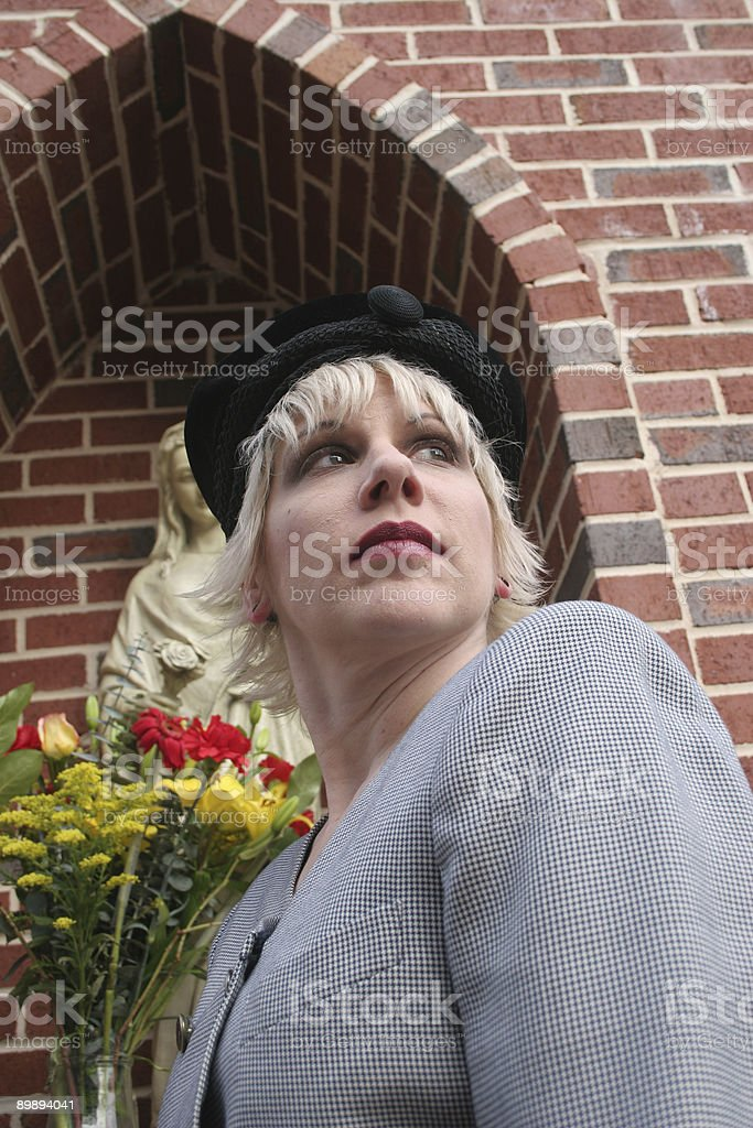 Business woman in Holy Garden royalty-free stock photo