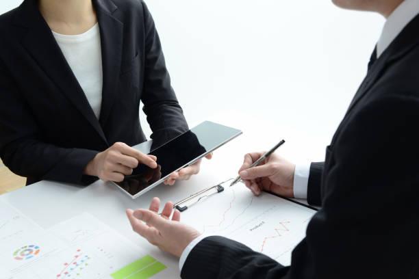 ビジネスの女性のミーティング ストックフォト