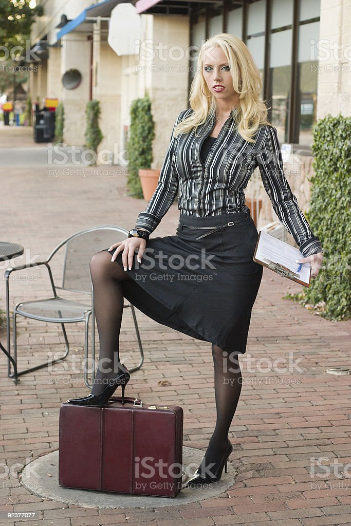 Business Woman In The City royalty-free stock photo