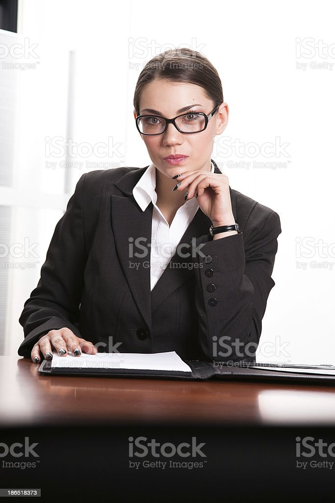 Business woman in the office royalty-free stock photo