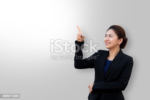 519052198 istock photo Business woman is wag and looking in suit 638973380