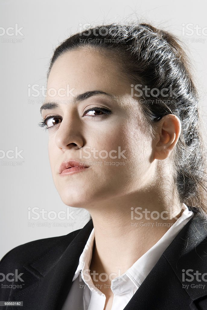 Business woman looking serious royalty-free stock photo