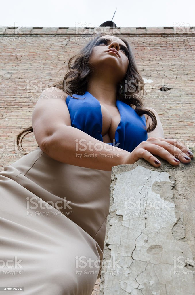Business woman love make poses stock photo