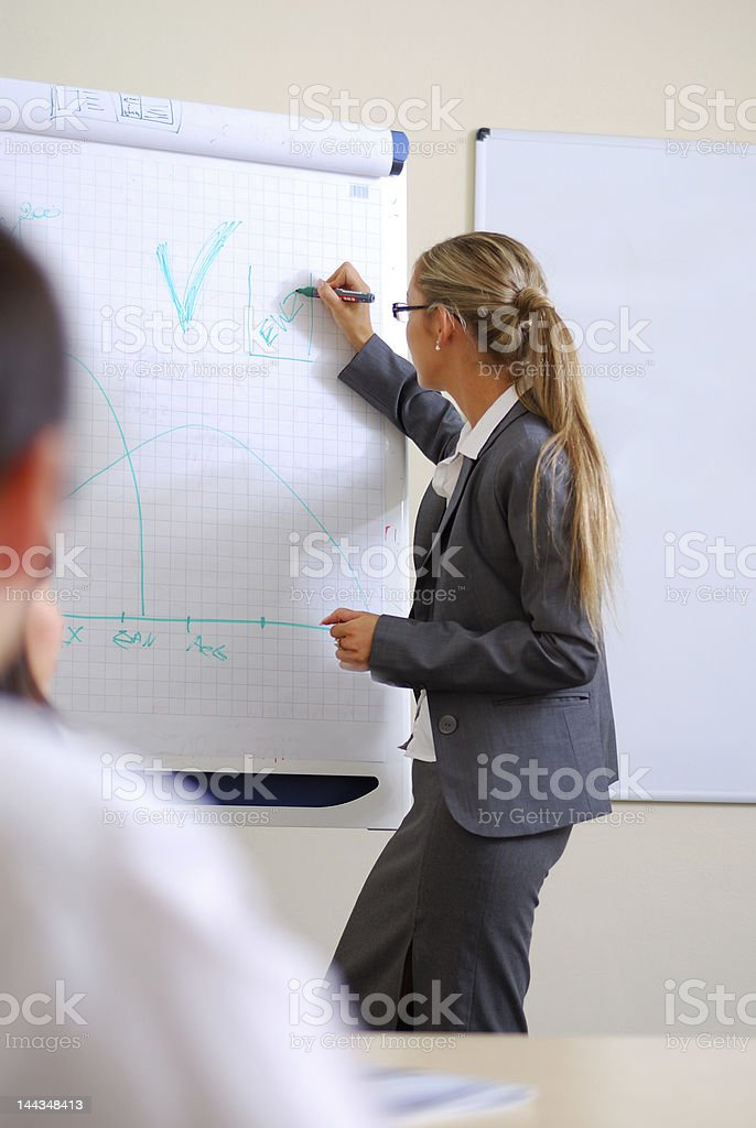 business woman making a presentation royalty-free stock photo