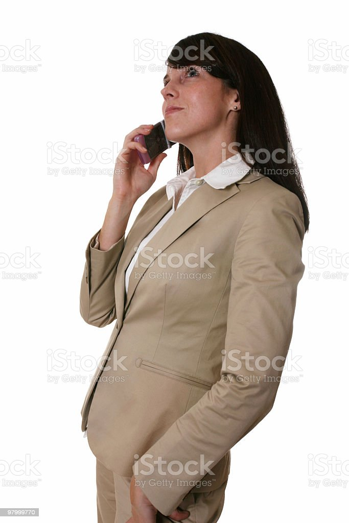 Business woman on the phone royalty free stockfoto
