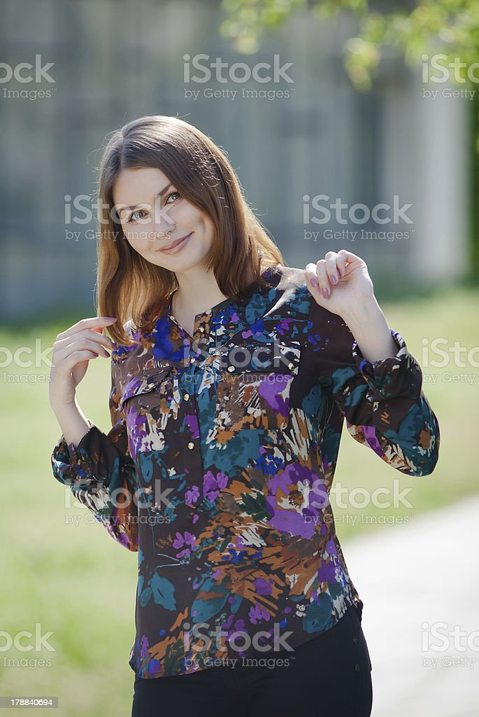 Business woman outdoors royalty-free stock photo