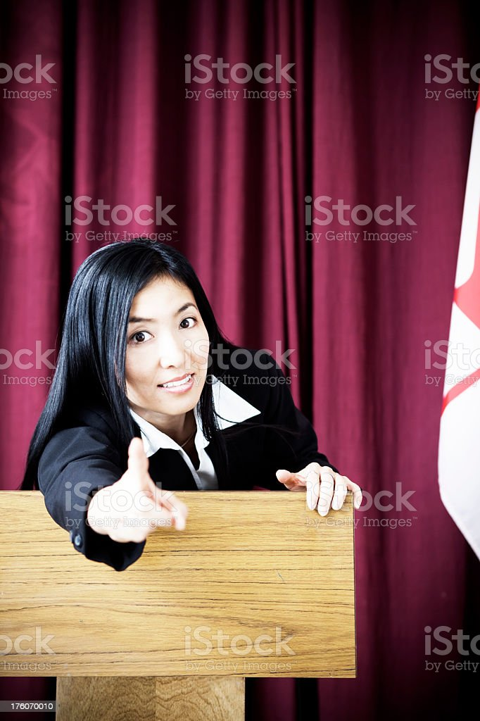 Business Woman Pointing royalty-free stock photo