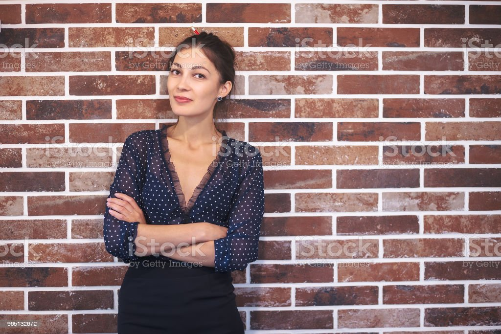Business woman portrait with crossed arms royalty-free stock photo
