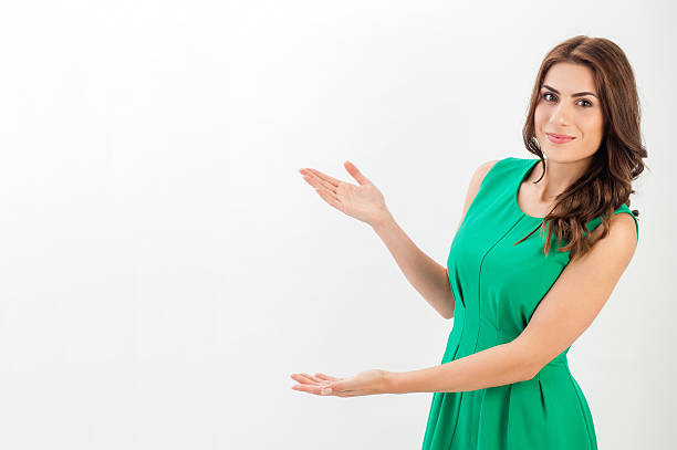 business woman presenting a copyspace. - awards ceremony stock photos and pictures