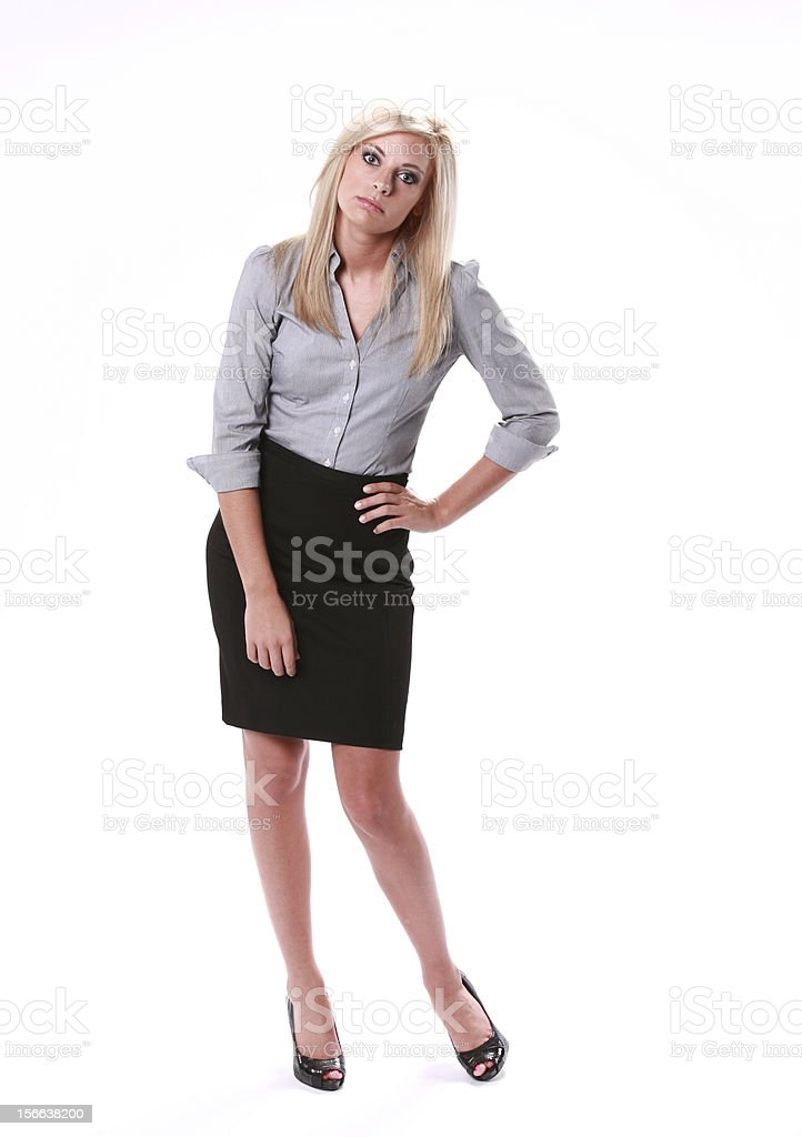 Business Woman Questioning royalty-free stock photo