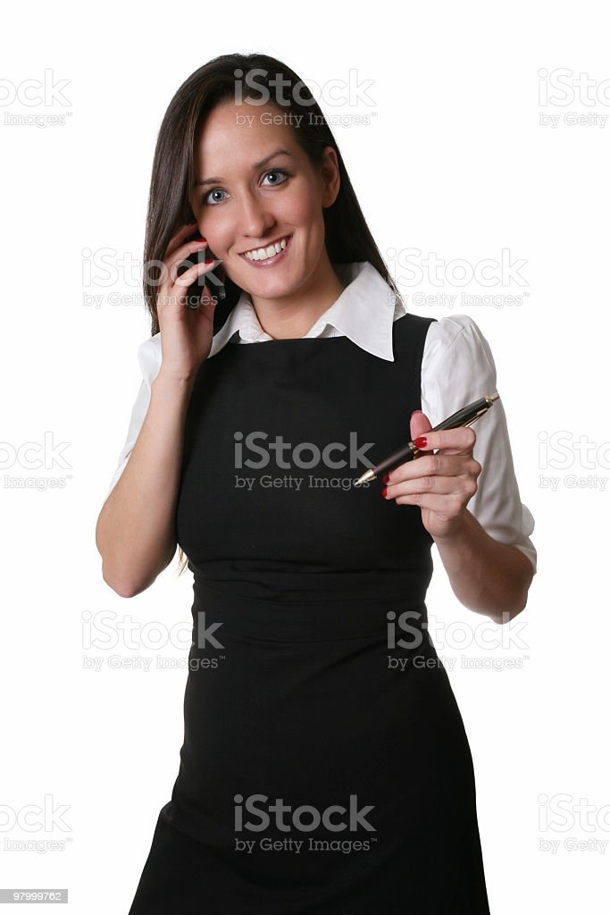 Business woman ready to help royalty free stockfoto