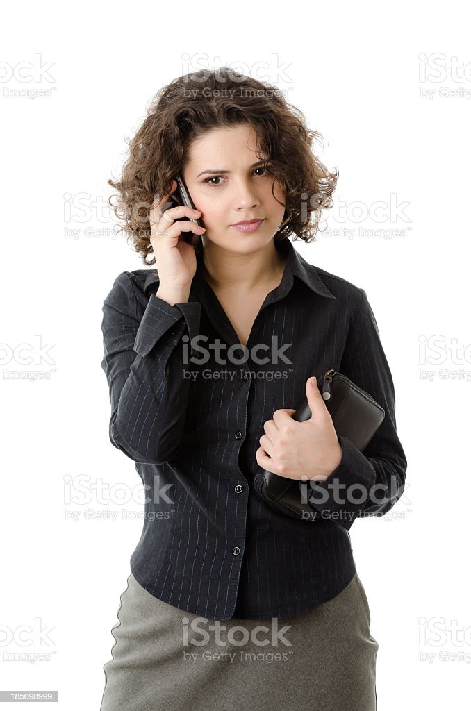 Business woman receiving bad news on the phone, royalty-free stock photo