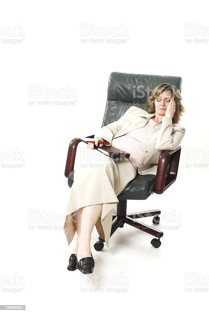 business woman relaxing on chair royalty-free stock photo