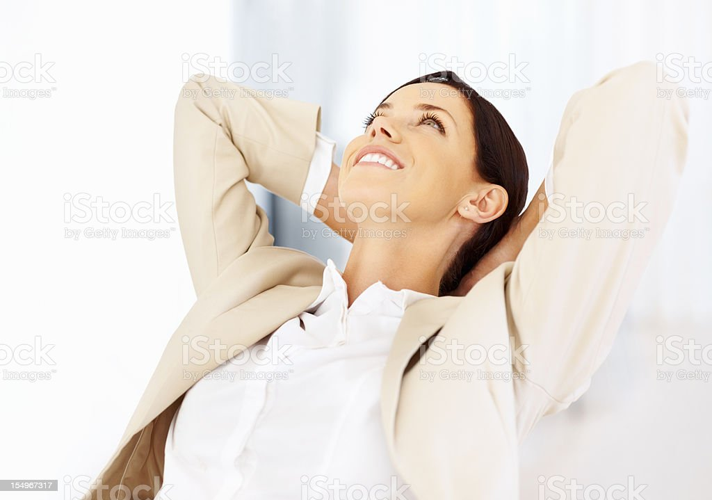 Business woman relaxing royalty-free stock photo