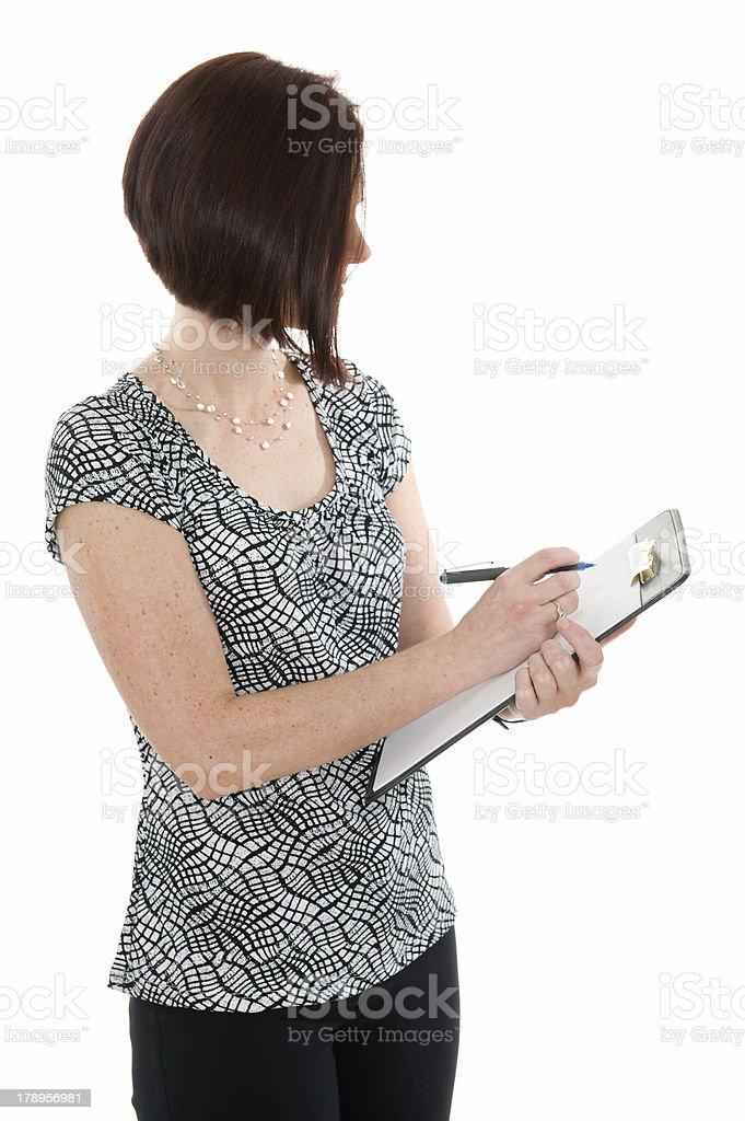 Business Woman Scoring Performance royalty-free stock photo