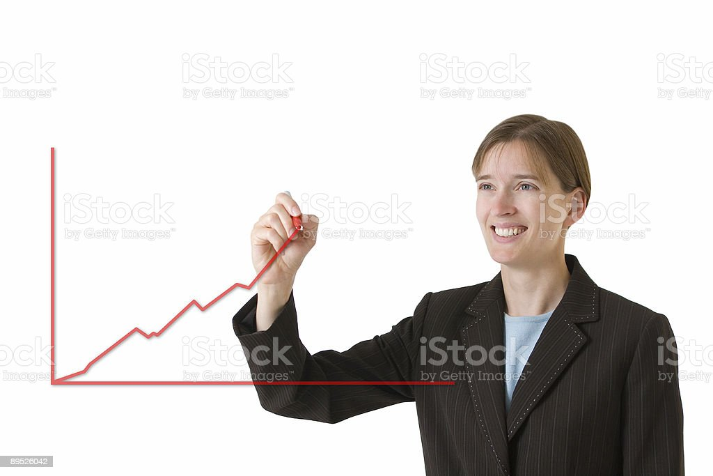 Business Woman Series - Steady Growth royalty-free stock photo