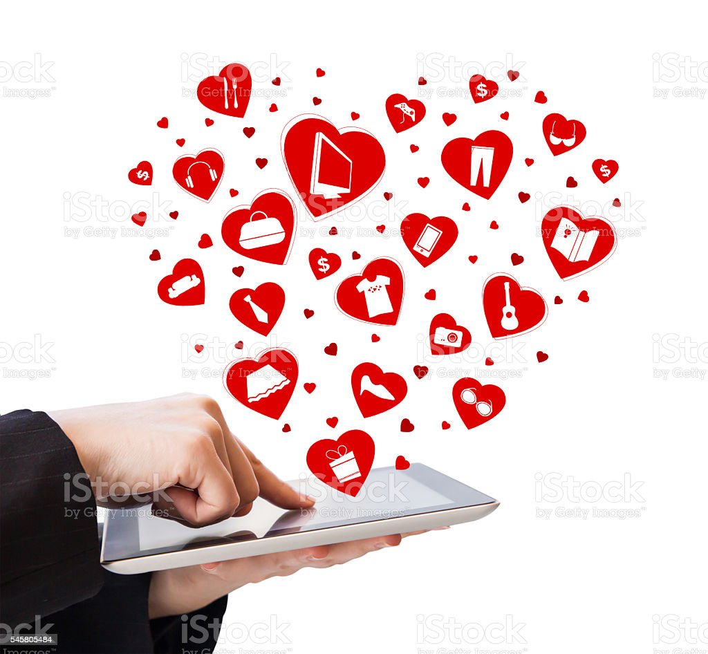 Business woman shopping online by using digital tablet stock photo
