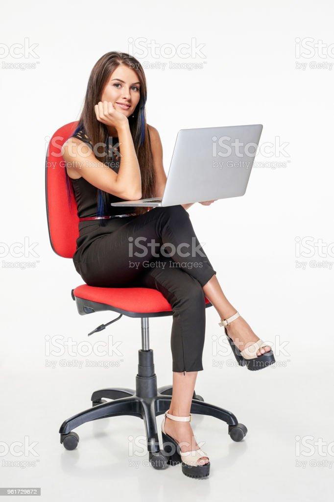La Sur Photo Libre Daffaires Chaise Droit De Assis Femme HWE92YIeD