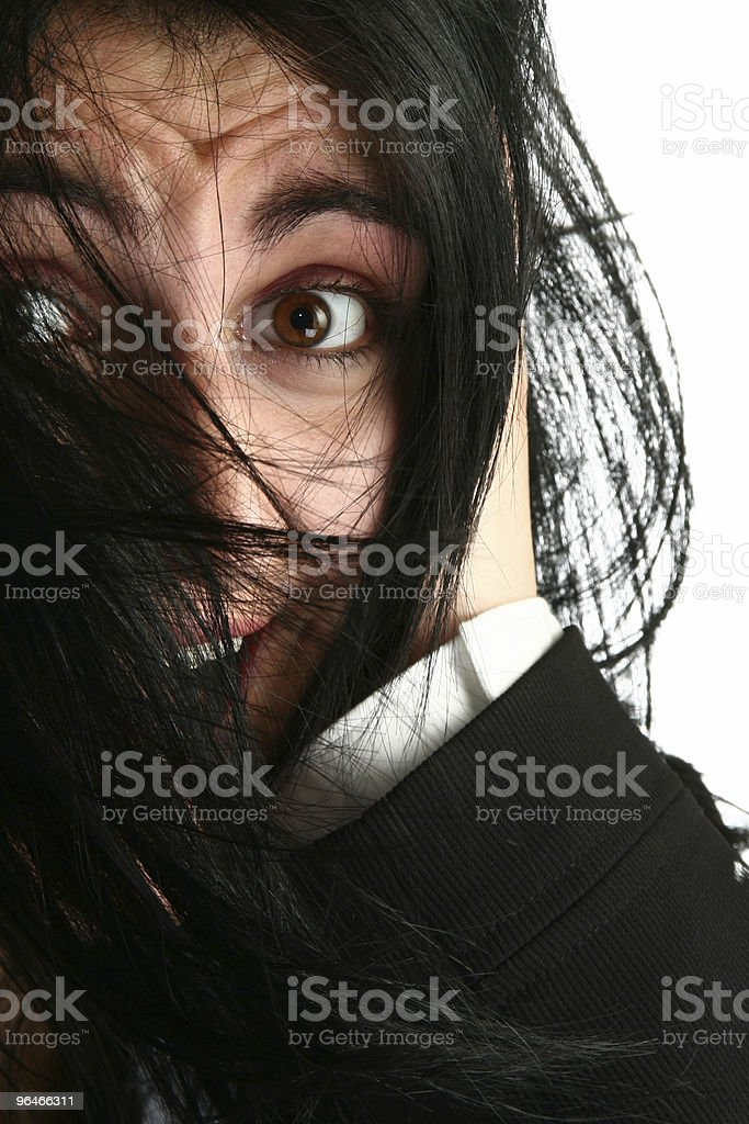 Business Woman Stressed royalty-free stock photo