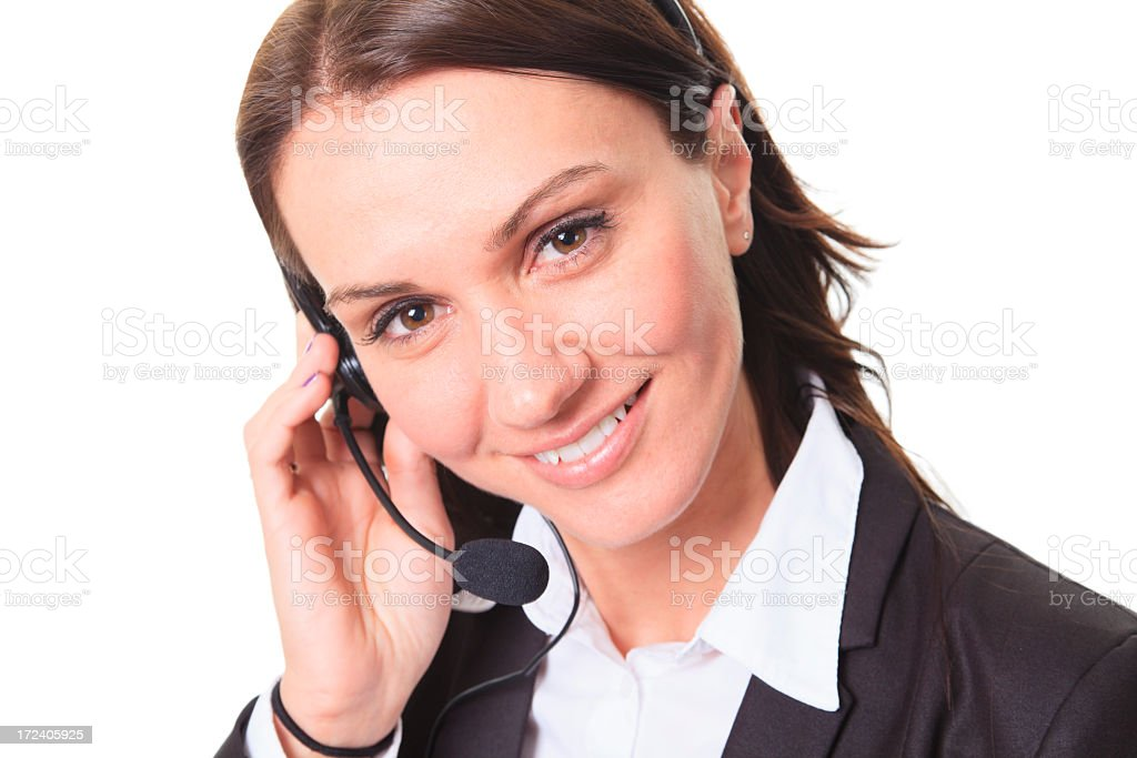 Business Woman Studio - Angle Receptionist royalty-free stock photo